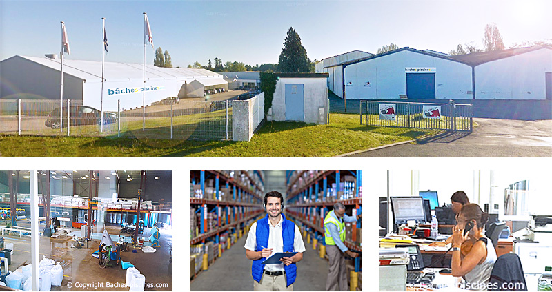 Société bâches-piscines.com:usine TEXIPOOL Gironde 33