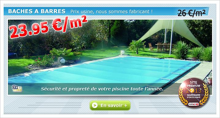 Couverture barre piscine